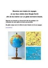 dessinez vos voyages dans google earth