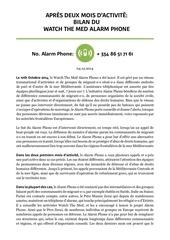wtm alarmphone bilan apres 2 mois francais