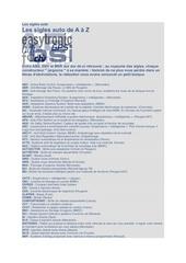 Fichier PDF les sigles auto