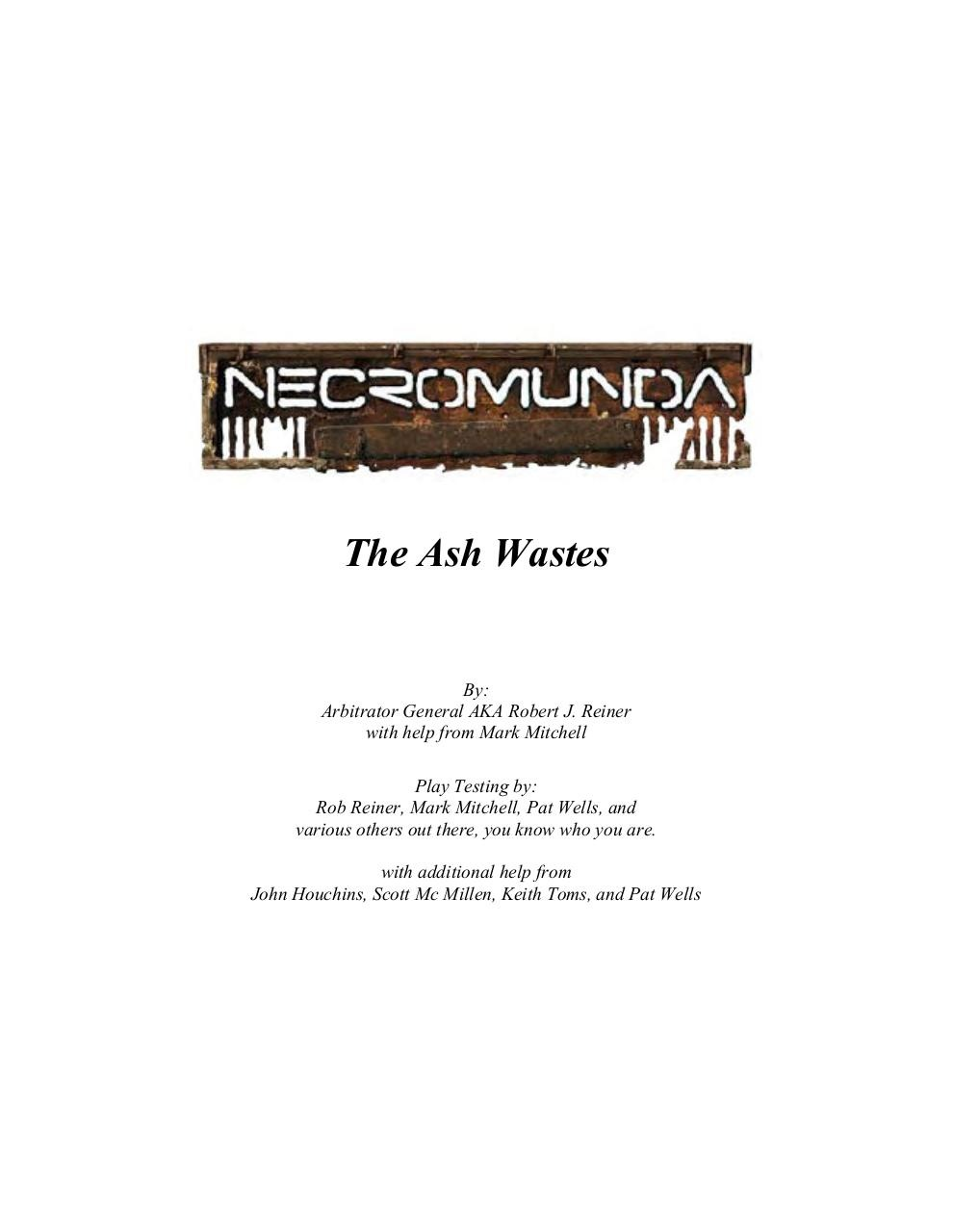 Necromunda - The Ash Wastes - COMPILATION.pdf - page 1/128