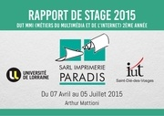 rapport stage 2015