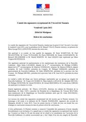 conclusions comite signataires exceptionnel 5 juin 2015