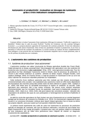 autonomie et productivite evaluation en elevages de ruminantsgr ce a trois indicateurs complementaires