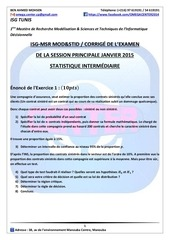 corrigE sp2015 stat intermEdiaire