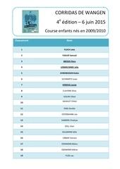 microsoft word classement course 2009 2010