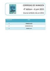 microsoft word classement course 2011