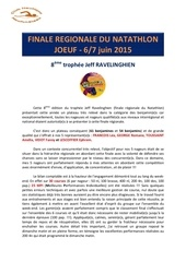compte rendu finale regionale du natathlon joeuf 2015
