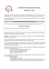 dossier d inscription 2015 2016