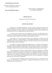projet de loi de reforme collectivites territoriales