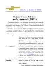Fichier PDF reglement des admissions 15 16