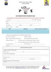 Fichier PDF autorisation parentale jeunes