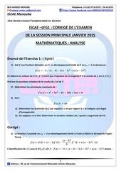 corrigE sp 2015 analyse l1 iscae