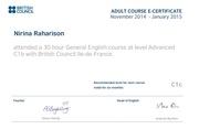 Fichier PDF e certificate of english advanced level nirina raharison