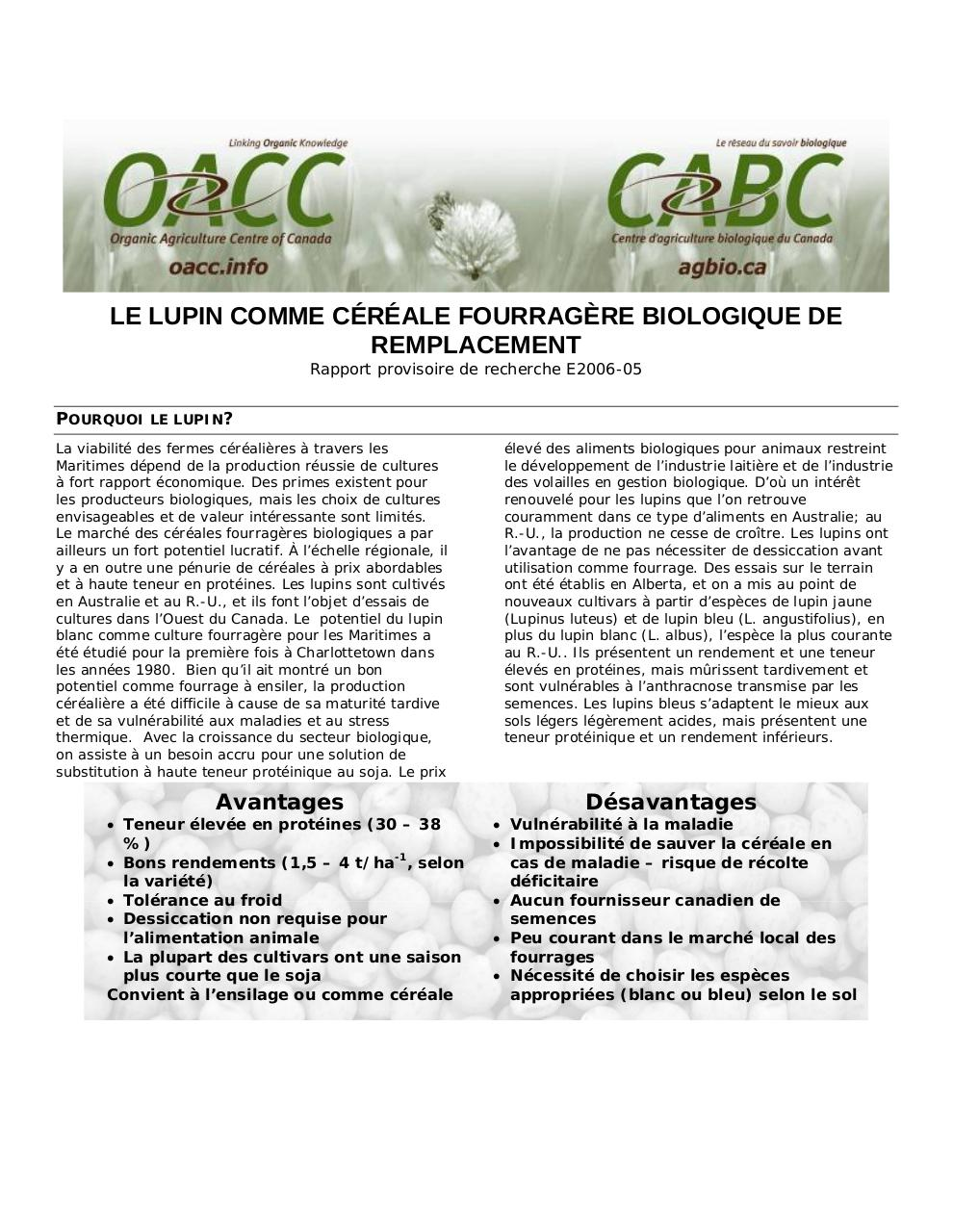 Aperçu du document OACC_Bulletin5_lupin_f.pdf - page 1/3