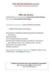 Fichier PDF offre de service micro ouadnoun