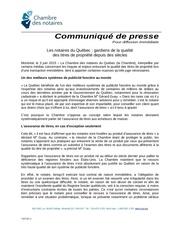 communique cnq assurance titres