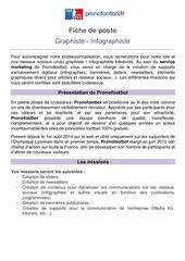 recrutement graphiste infographiste pronofootbol