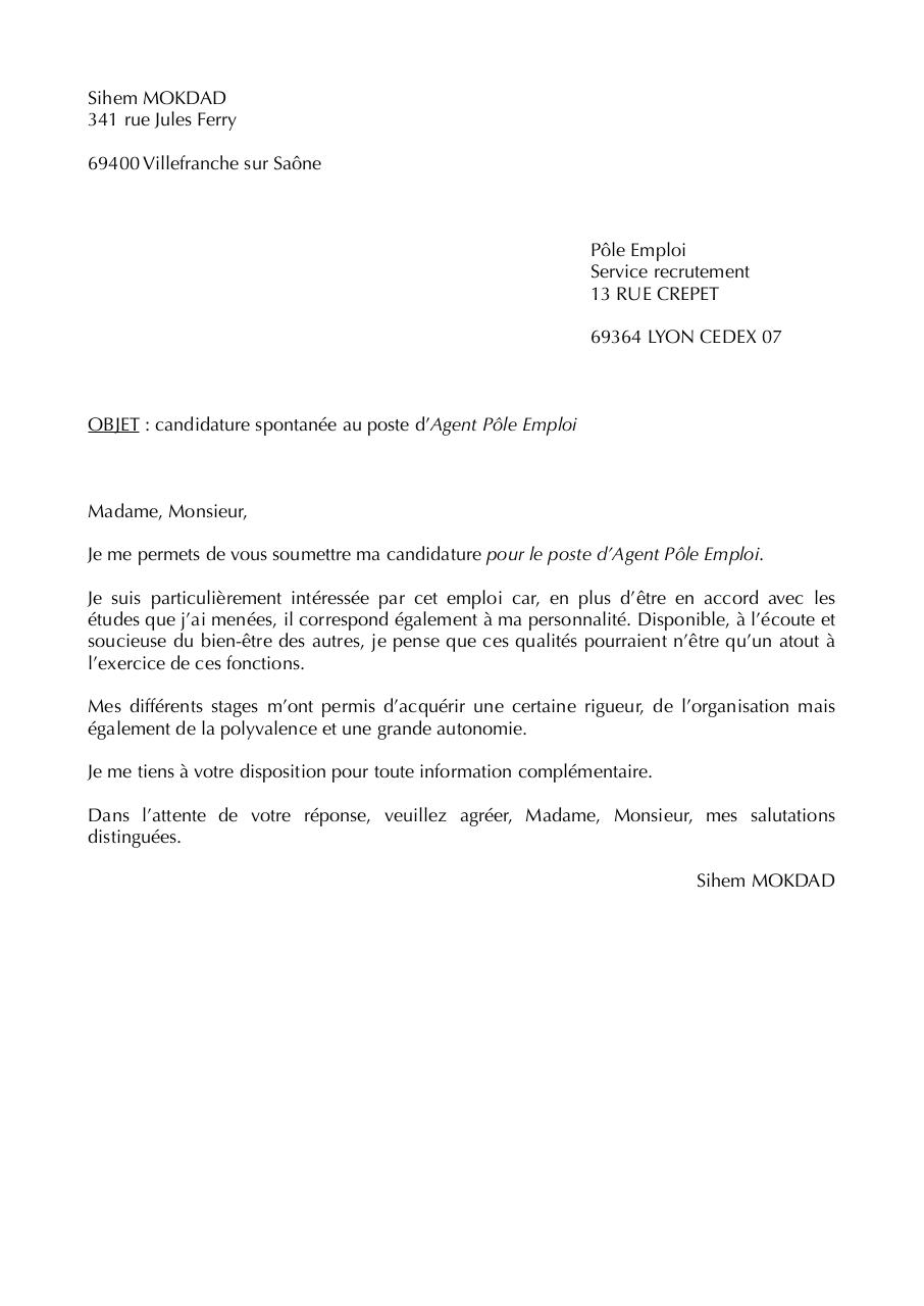 Lettre agent p le emploi lettre agent p le emploi pdf - Je reste a votre disposition pour toutes informations complementaires ...