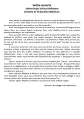 lettre ouverte contre la reforme