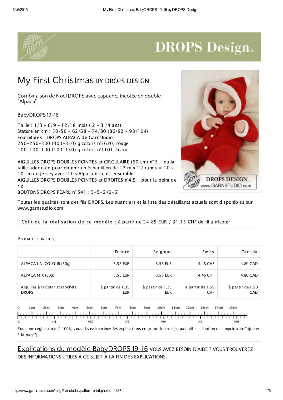 Aperçu du document My First Christmas, BabyDROPS 19-16 by DROPS Design (1).pdf - page 1/5
