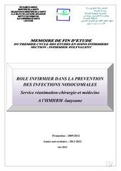 role infirmier dans la prevention des infections nosocomiales