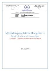 s3 algebre i polycopie des exercices
