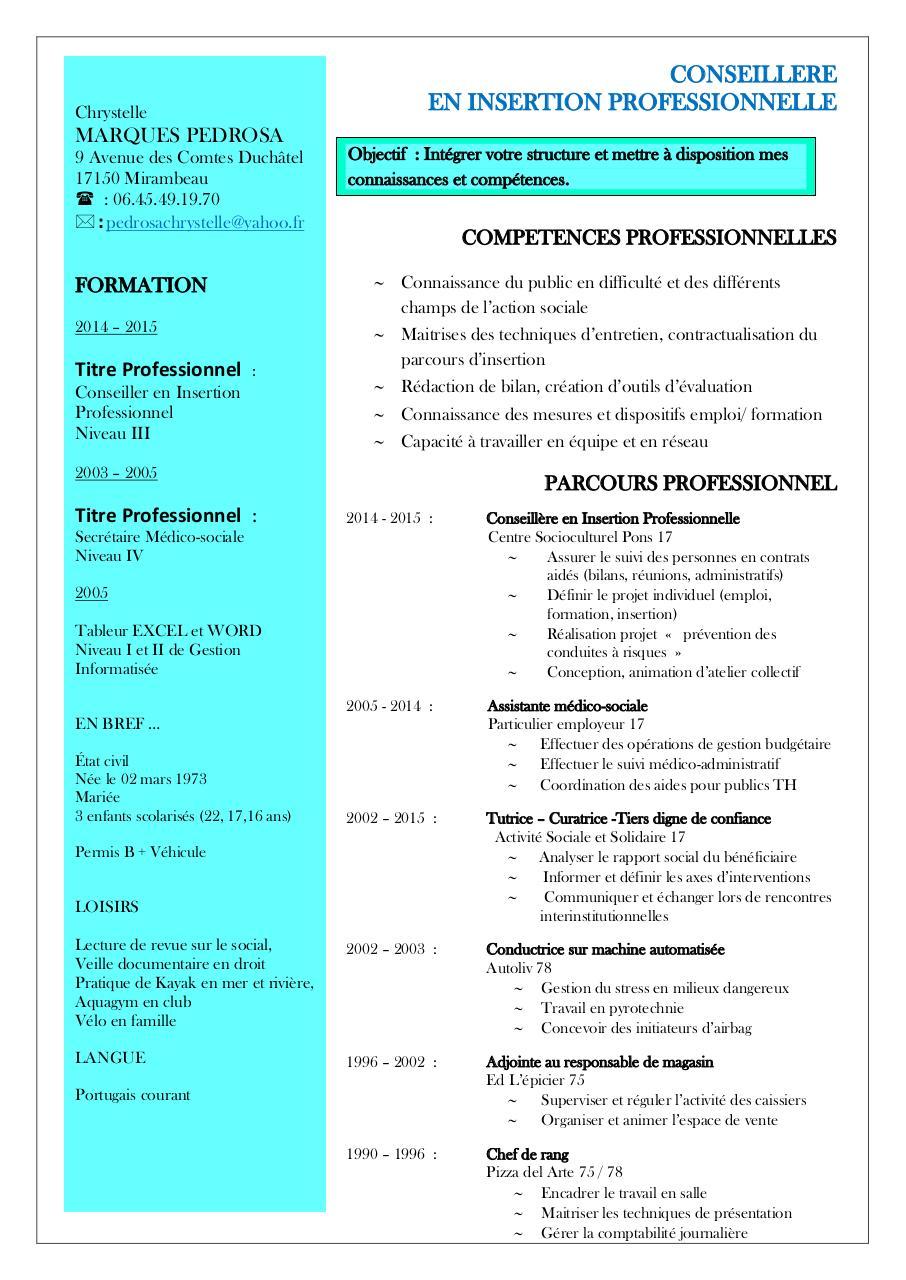cv pedrosa 2015 candidature  pdf par gabelus annie