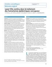 Fichier PDF laser co2 continu dans le traitement des hamartomes