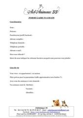 Fichier PDF questionnaire fa chats