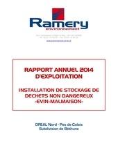 rapport annuel 2014 ambre