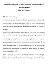 declaration liminaire de m ali benflis president de talaiou el houriyet a la conference de presse