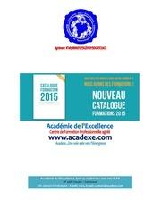 catalogue de formations acadexe 2015