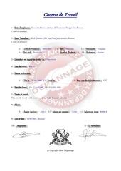 contrat de travail rick grimes