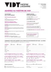 formulaire carte adherent