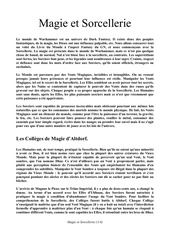 magie et sorcellerie 2 version printable