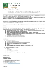 ingenieur construction durable octobre 2015