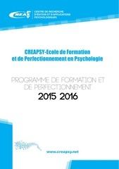 programme 2015 2016