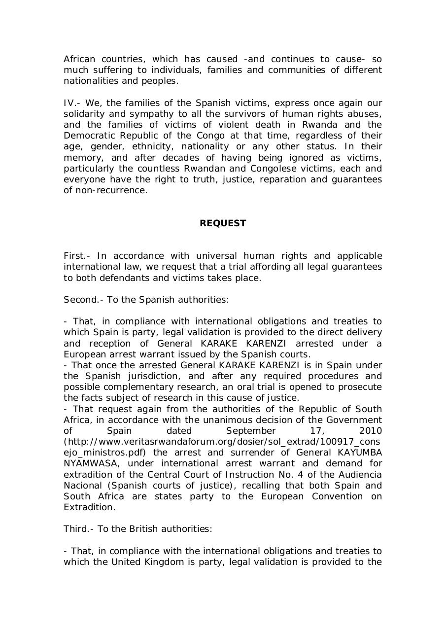 spanish-victims-families-communiqué-over-Karenzi-arrest.pdf - page 2/3