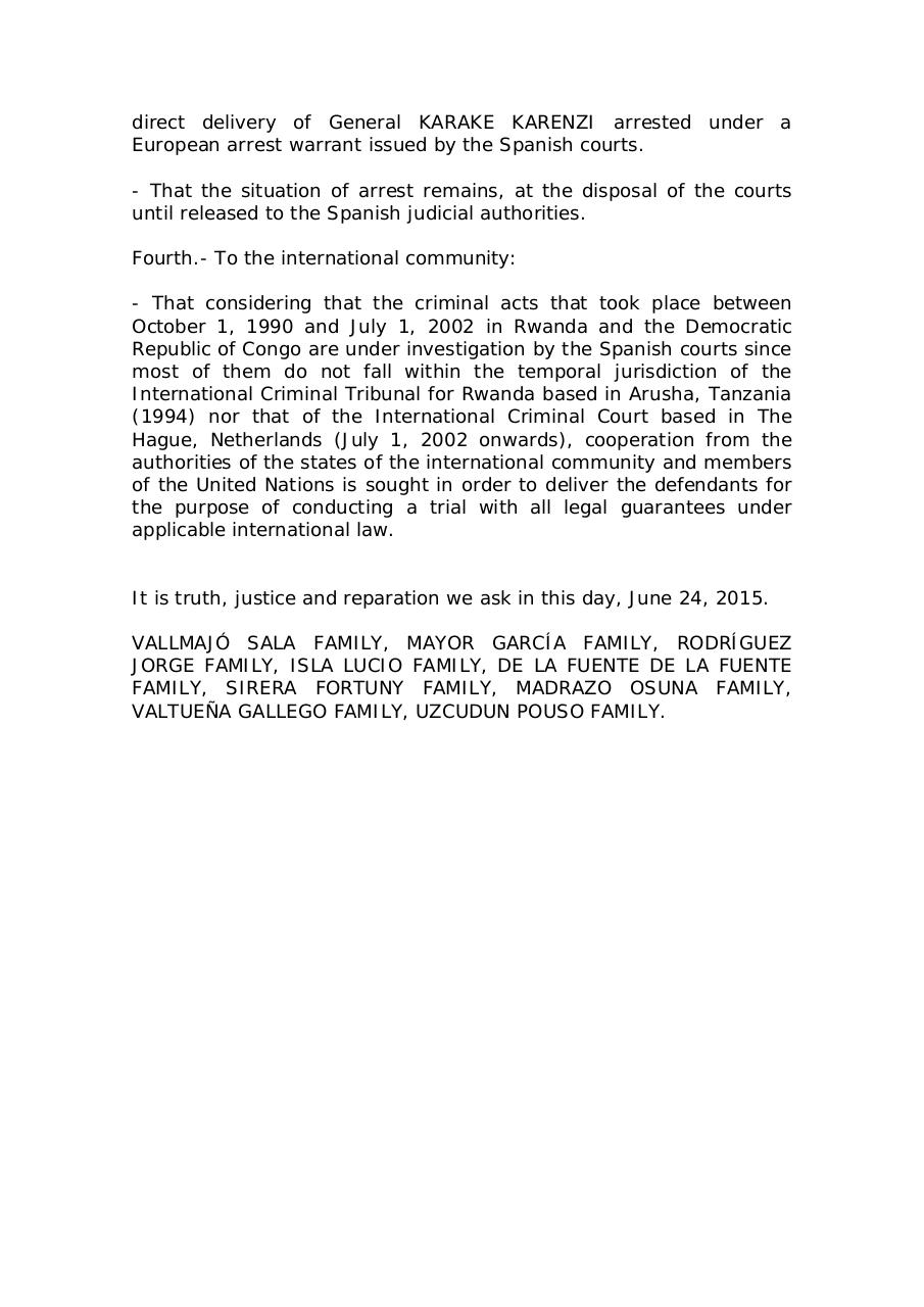 spanish-victims-families-communiqué-over-Karenzi-arrest.pdf - page 3/3