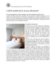 communique de presse i juin 2015 i hotel marin ter