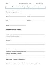 formulaire a remplir pour deposer une annonce pdf