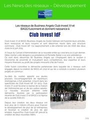 news des reseaux developpement juin 2015