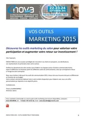 plaquette outils marketing enovamag enovaparis 2015