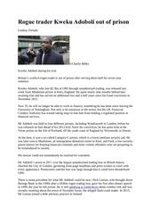 rogue trader kweku adoboli out of prison