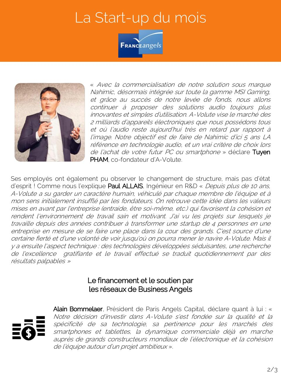 Aperçu du document Start-up à l'honneur Juin 2015.pdf - page 2/3