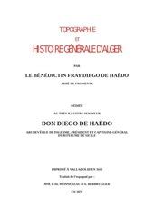 1870 topographie histoire alger de haedo