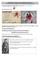 programme commemoration 1