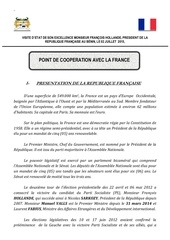 point de la cooperation france benin