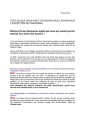 Fichier PDF faq exception panorama