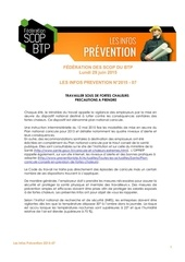 les infos prevention securite 2015 07